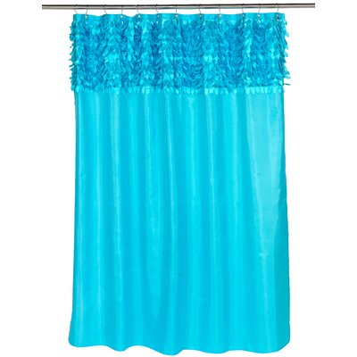 Jasmine Shower Curtain Color: Cyan Blue