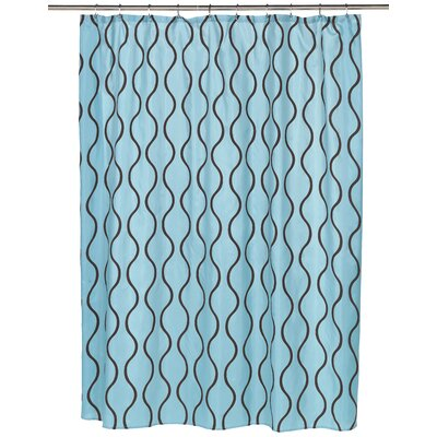 Geneva Shower Curtain Color: Chocolate/Blue