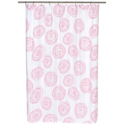 Lucerne Shower Curtain Color: Fuchsia/White