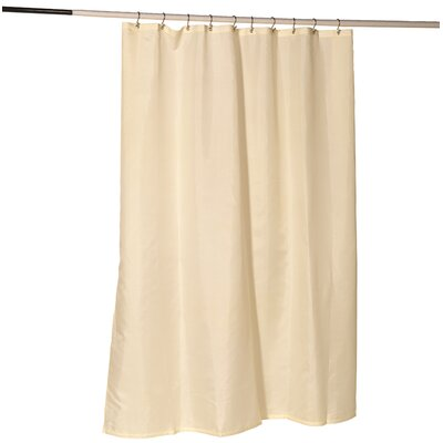 Nylon Fabric Shower Curtain Liner with Reinforced Header and Metal Grommets Color: Ivory