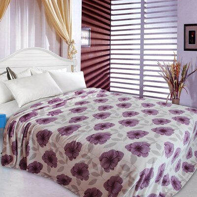 Primrose Design Throw Blanket Size: King, Color: Purple