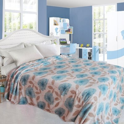 Primrose Design Throw Blanket Size: Twin, Color: Blue