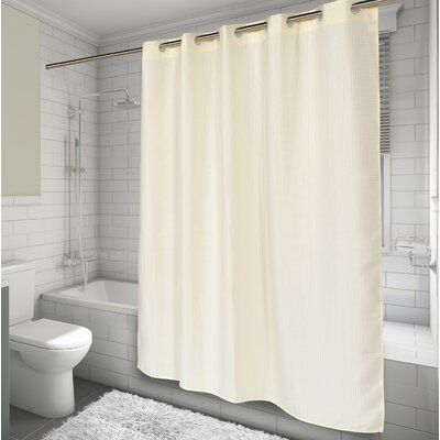 EZ-ON� Waffle Weave Shower Curtain Color: Ivory