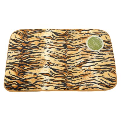 Tiger Faux Fur Bath Mat