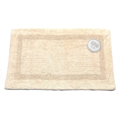 Reversible Cotton Bath Mat Color: Ivory, Size: Medium
