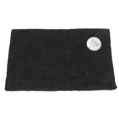 Reversible Cotton Bath Mat Size: Medium, Color: Black