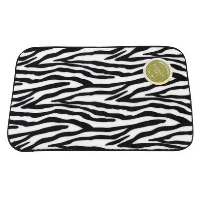 Zebra Faux Fur Bath Mat