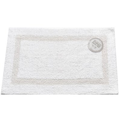 Reversible Cotton Bath Mat Size: Large, Color: White