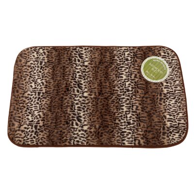 Cheetah Faux Fur Bath Mat