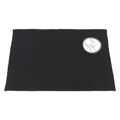 Memory Foam Bath Mat Size: Large, Color: Black