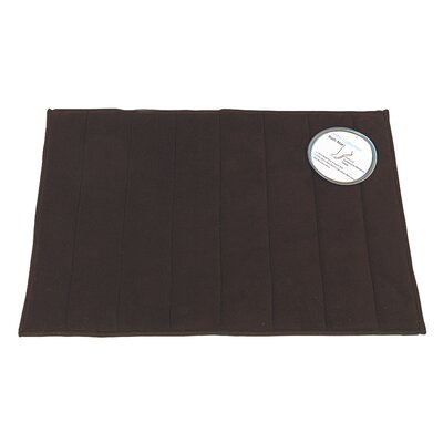 Memory Foam Bath Mat Color: Brown, Size: Large