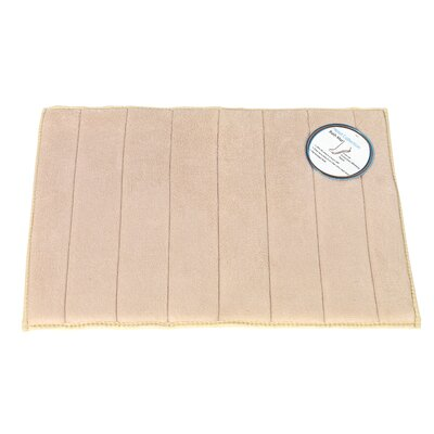 Memory Foam Bath Mat Size: Medium, Color: Ivory