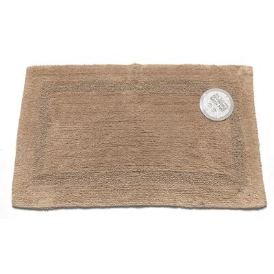 Reversible Cotton Bath Mat Size: Large, Color: Linen