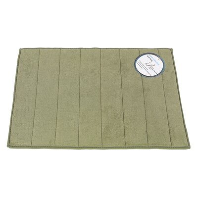 Memory Foam Bath Mat Size: Large, Color: Sage