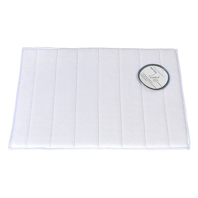 Memory Foam Bath Mat Size: Large, Color: White