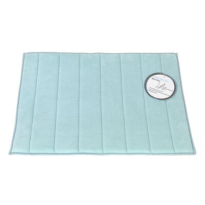 Memory Foam Bath Mat Color: Spa Blue, Size: Large