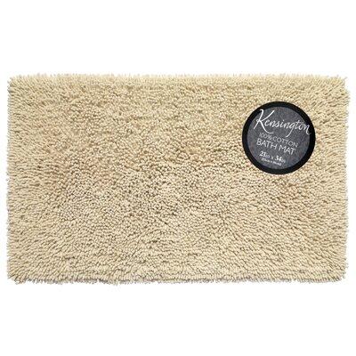 Shaggy Cotton Chenille Bath Rug Color: Ivory