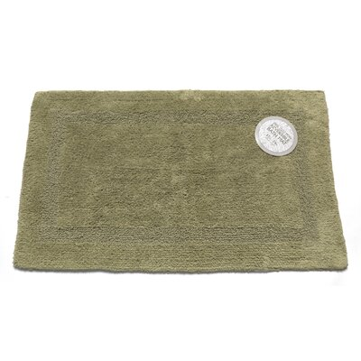 Reversible Cotton Bath Mat Size: Medium, Color: Sage