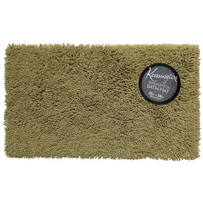Shaggy Cotton Chenille Bath Rug Color: Sage