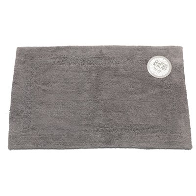 Reversible Cotton Bath Mat Color: Pewter, Size: Medium