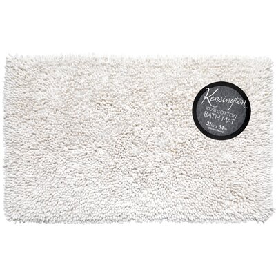 Shaggy Cotton Chenille Bath Rug Color: White