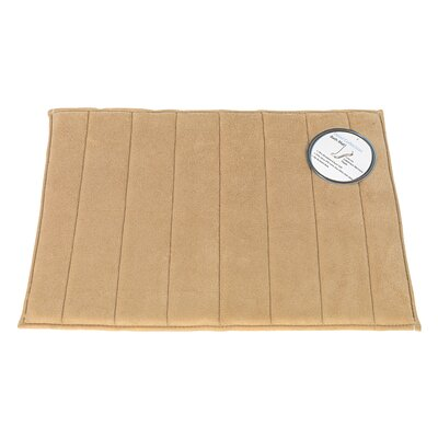Memory Foam Bath Mat Size: Large, Color: Linen