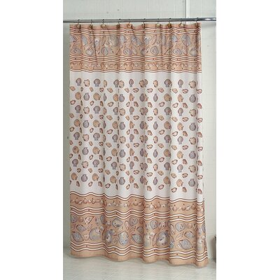 South Beach Shower Curtain Color: Ivory