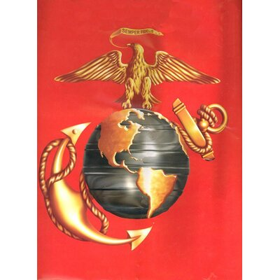 Royal Plush Extra Heavy Queen Size Marine Semper Fidelis Blanket