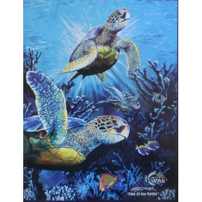 Royal Plush Extra Heavy Queen Size Sea Turtles Blanket
