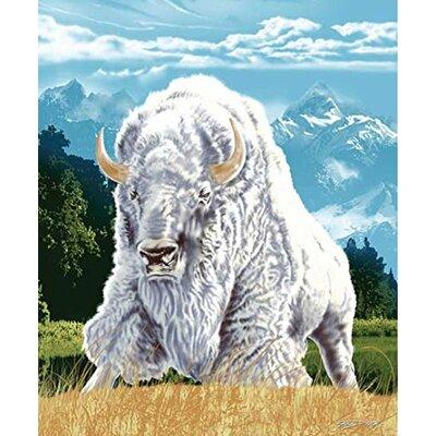 Royal Plush Extra Heavy Queen Size Albino Buffalo Blanket