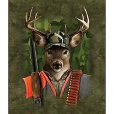 Role Reversal Extra Heavy Queen Size Deer Hunter Blanket