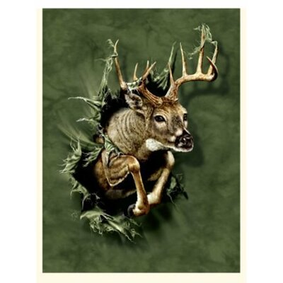 Royal Plush Extra Heavy Queen Size Deer on the Run Blanket
