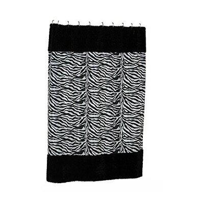 Savanna Faux-Fur-Trimmed Shower Curtain