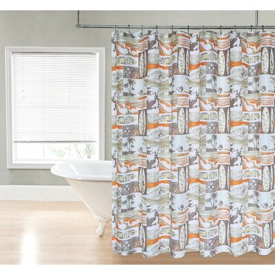 Delanie Surfer Dude Shower Curtain