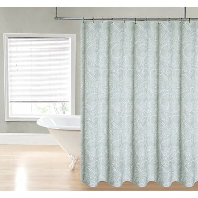 Loraine Paisley Shower Curtain Color: Sage