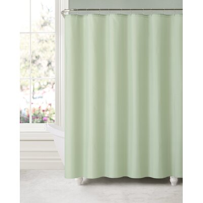 Elissa Water and Mildew Resistant Shower Curtain Color: Sage Green