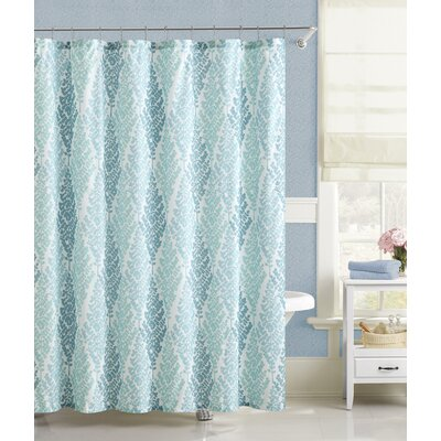 Fort Washington Fern Diamonds Embossed Shower Curtain