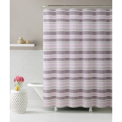Elissa Ombre Cascade Shower Curtain Color: Pink