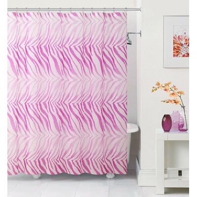 Leeloo Zebra Shower Curtain Color: Pink