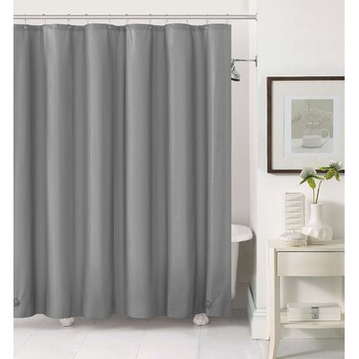 Acton 2 in 1 Shower Curtain Color: Silver