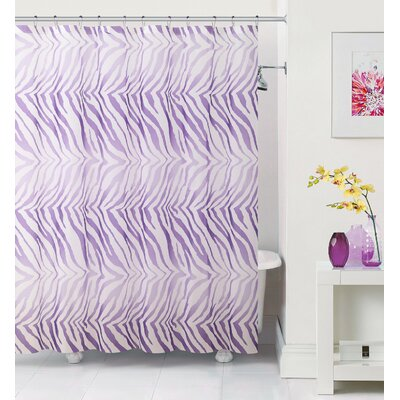 Arlene Zebra Shower Curtain Color: Purple