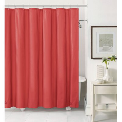 Elissa 2 in 1 Shower Curtain Color: Red