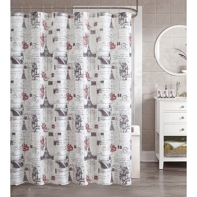 Pallas 16 Piece Paris Shower Curtain Set