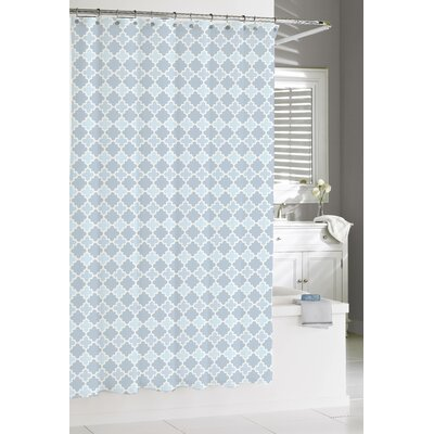 Susy Cotton Shower Curtain Color: Spa Blue