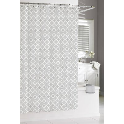 Susy Cotton Shower Curtain Color: Grey