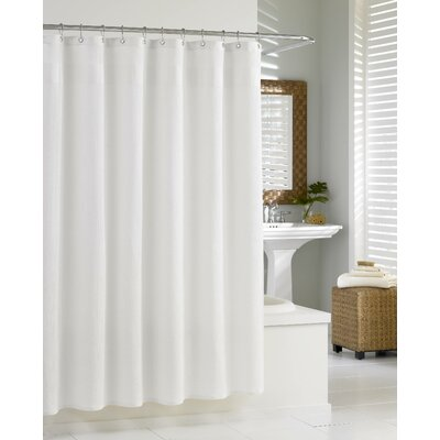 Oakley Extra Heavy Hotel Quality Cotton Shower Curtain Color: White
