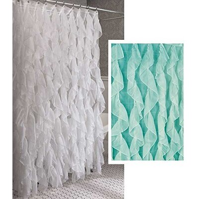 Westendorf Cascading Waterfall Shower Curtain Color: Spa Blue