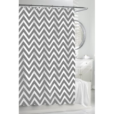 Gaines Chevron Cotton Shower Curtain Color: Grey / White