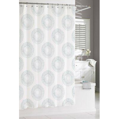 Susy Mandala Burst Cotton Shower Curtain Color: Grey