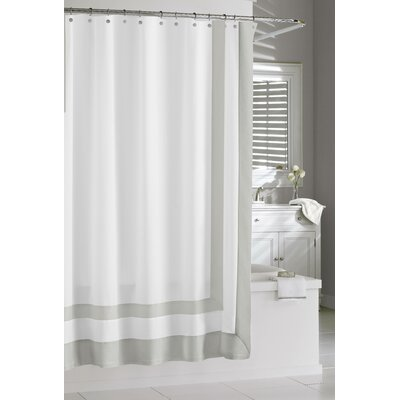Gaines Luxury Frame Cotton Shower Curtain Color: Silver